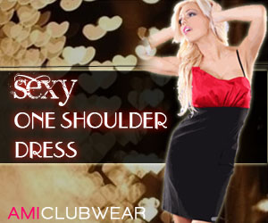 Celebrity Trend!Sexy One Shoulder Dresses for your party!