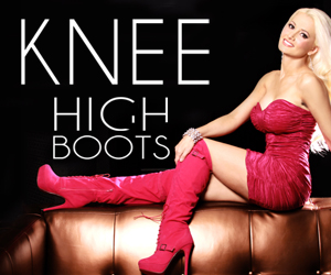 Holly Madison loves our Knee High Boots at AMIclubwear.com
