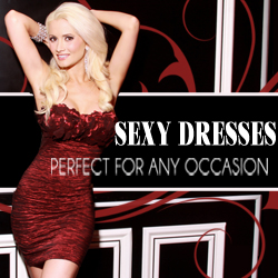 Holly Madison loves our Club Dresses at AMIclubwear.com