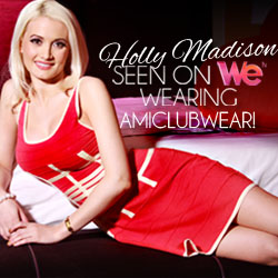 Holly Madison seen on WeTV wearing AMIclubwear.com!