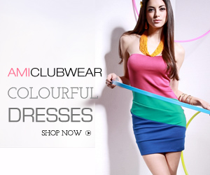 Shop for colorful dresses at AMIclubwear.com