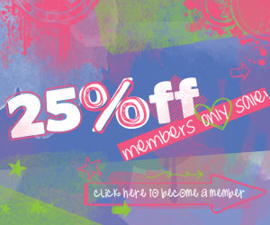 25% off!Members only save!