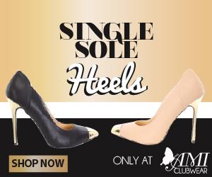 Shop AMIclubwear.com for great deals on fashionable Single-Sole Heels.