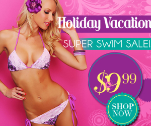 Holiday vacation!super swim sale!$9.99 shop now