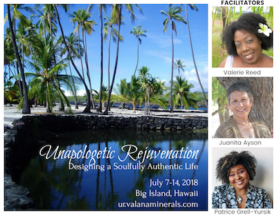 Valana Minerals Unapologetic Rejuvenation Hawaii Retreat Business and Self Care Coaching Safe Cosmetics Education