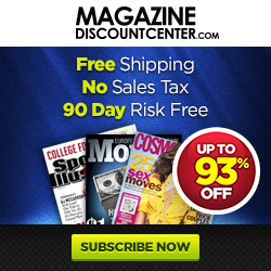 Magazines up to 85% off at MDC