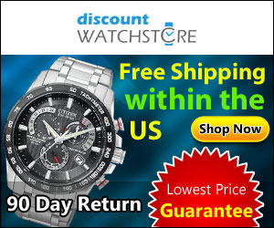 FREE Shipping on EVERY Watch! DiscountWatchStore.com
