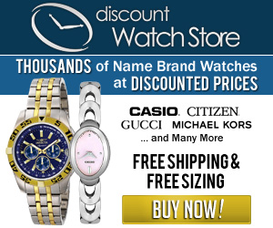 Shop DiscountWatchStore.com for Luxury Timepieces at Affordable Prices!  Free Sizing & Shipping!