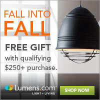 Fall Refresh Offer: Receive a Free Set of 4 Chilewich Tablemats, with qualifying $250 purchase purchase at Lumens.com. Use code: FALL. Free Shipping! Offer ends 9/30.