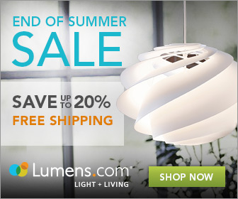 Save up to 20% on lighting, furniture and fans at Lumens.com. Free Shipping! Sale runs 8/1 - 8/31
