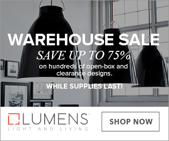 Save up to 75% on hundreds of open-box and clearance designs during the Warehouse Sale! While supplies last.