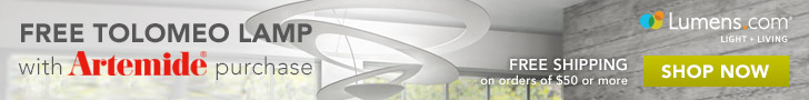 Artemide Free Tolomeo Lamp 728x90