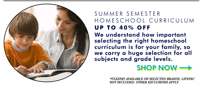 Summer Semester Homeschool Curriculum