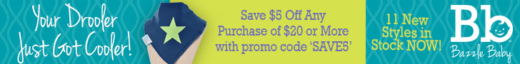 Save $5 Off Any Purchase of $20 or More at bazzlebaby.com
