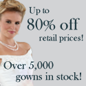 Up to 80% OFF Retail on over 5,000 Gowns!