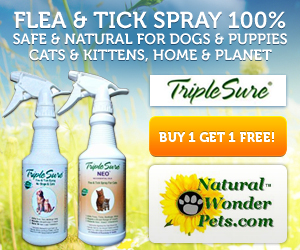 Natural Wonder Products Flea and Tick Spray 100% Safe and Natural for Dogs & puppies, cats and kittens, home and planet. Buy 1 get 1 free