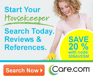 Start Your Housekeeper Search Today.  Reviews & References., Save   20%