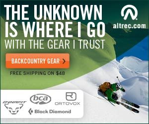 Unknown is where I go - Backcountry Ski Gear at Altrec Outdoors