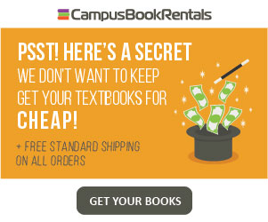 Campus Book Rentals - Half priced textbooks + free shipping on all orders!