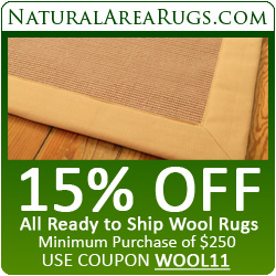 15% Off All Ready to Ship Wool Rugs