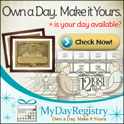 MyDayRegistry: Own a Day. Make it Yours.