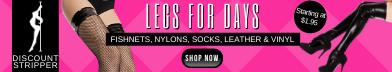 Fishnets, Stockings, Leather, Nylons