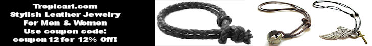 Go to http://www.Tropicari.com for Stylish Leather Jewelry for Men & Women Use Coupon code coupon12 for 12% off!