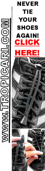 No Tie Shoelaces at http://www.Tropicari.com