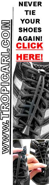 No Tie Shoelaces at http://www.Tropicari.com