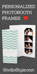Personalized Photobooth Frames for Wedding and Party Favors