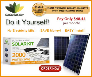 Get Started With Green Energy at GoGreenSoalr.com