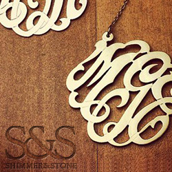 Initial Monogram Necklaces