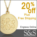 20% Off All Mens Monogram Jewelry at Shimmer & Stone