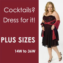Fabulous cocktail dressy dresses for size 14W to 38W