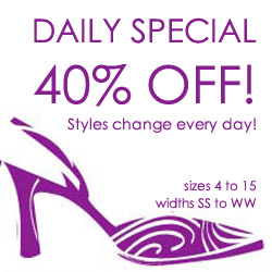 Save 40%.  Styles change every day at Designer Shoes.
