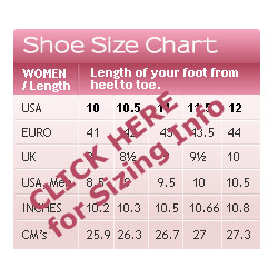 Measure your feet and determine your USA size
