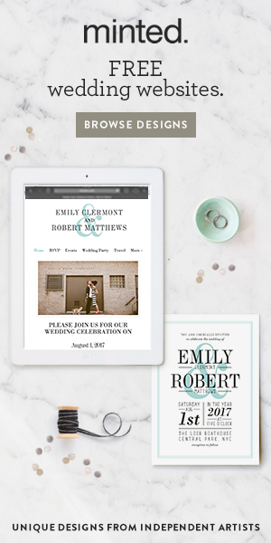 Minted Free Wedding Website