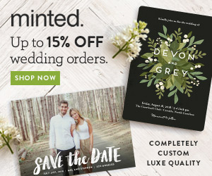 10% off + free shipping on all Minted Wedding Products