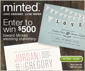 Win $500 towards Minted Wedding Stationery