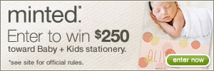 Minted's Baby + Kids Stationery Giveaway
