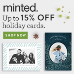 Free Backer + Free Shipping for Minted Holiday Cards