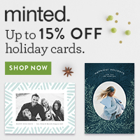 15% off Minted Holiday Cards
