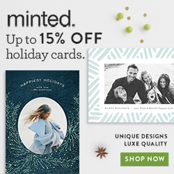 10% off Minted Holiday Cards