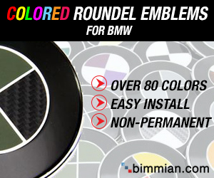Colored Roundel Emblems For BMW
