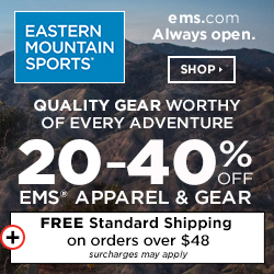 Get 20-40% Off EMS Apparel & Gear