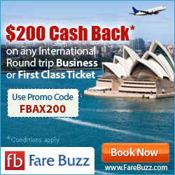 Save $200 on your next Business Class Flight!