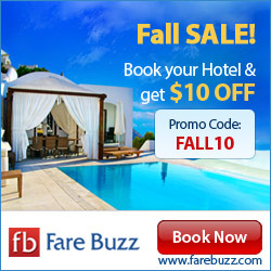 Fall Sale! Book your Hotel & get $10 Off with promo code FALL10!
