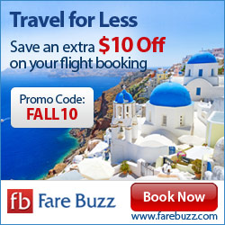 Travel for Less Save an extra $10 Off on your flight booking