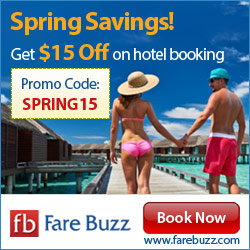 Spring Savings! Get $15 off on hotel booking with Coupon Code SPRING15