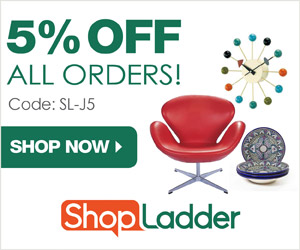 5% OFF ALL ORDERS at ShopLadder.com with code SL-J5 (valid thru 7/31/15)! Free shipping on most items!